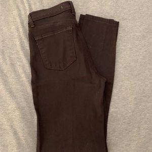 J BRAND Espresso Skinny Jeans - SZ 26